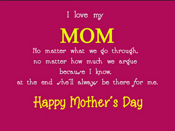 Messages For Mom Mother Day Wishes Cute Love Quotes For