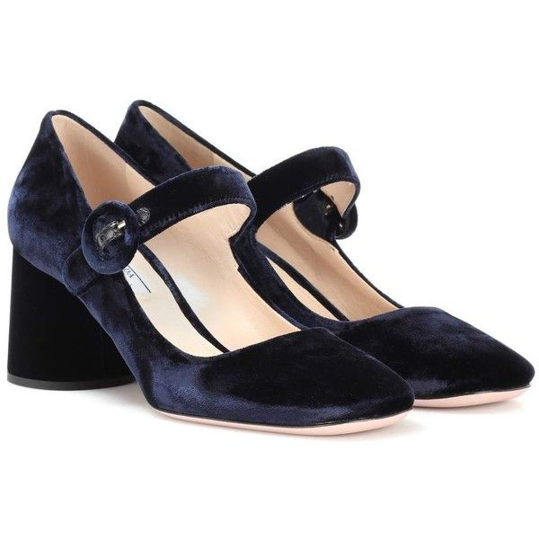 af53e8923327 Prada Velvet Pumps ( 685) ❤ liked on Polyvore featuring shoes ...