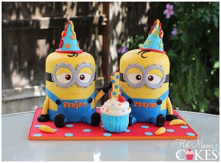 Birthday Cake Images Minions ~ Minion twins despicable me cakes cake minion