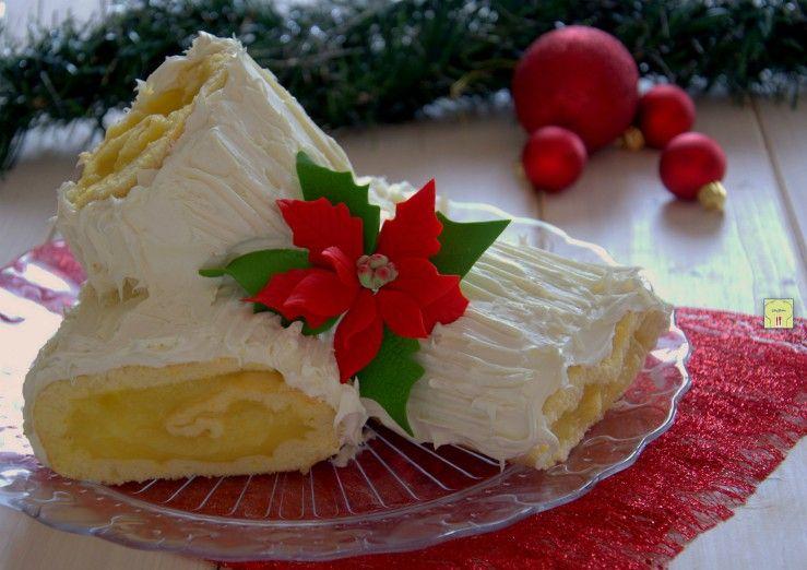 Tronchetto Bianco Di Natale.Tronchetto Di Natale Arancia E Cioccolato Bianco Rotolo Al Ciocc