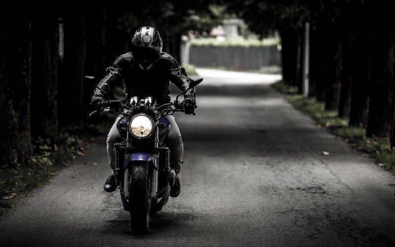 Biker Riding Honda Hornet Bike Rider Riding Motorcycle Motorcycle Travel