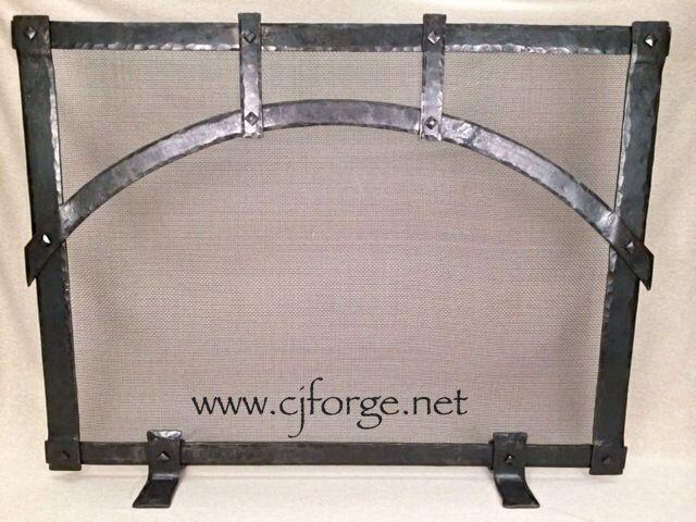 Hand forged fireplace screen wwwfacebookcomCJForgeBlacksmith