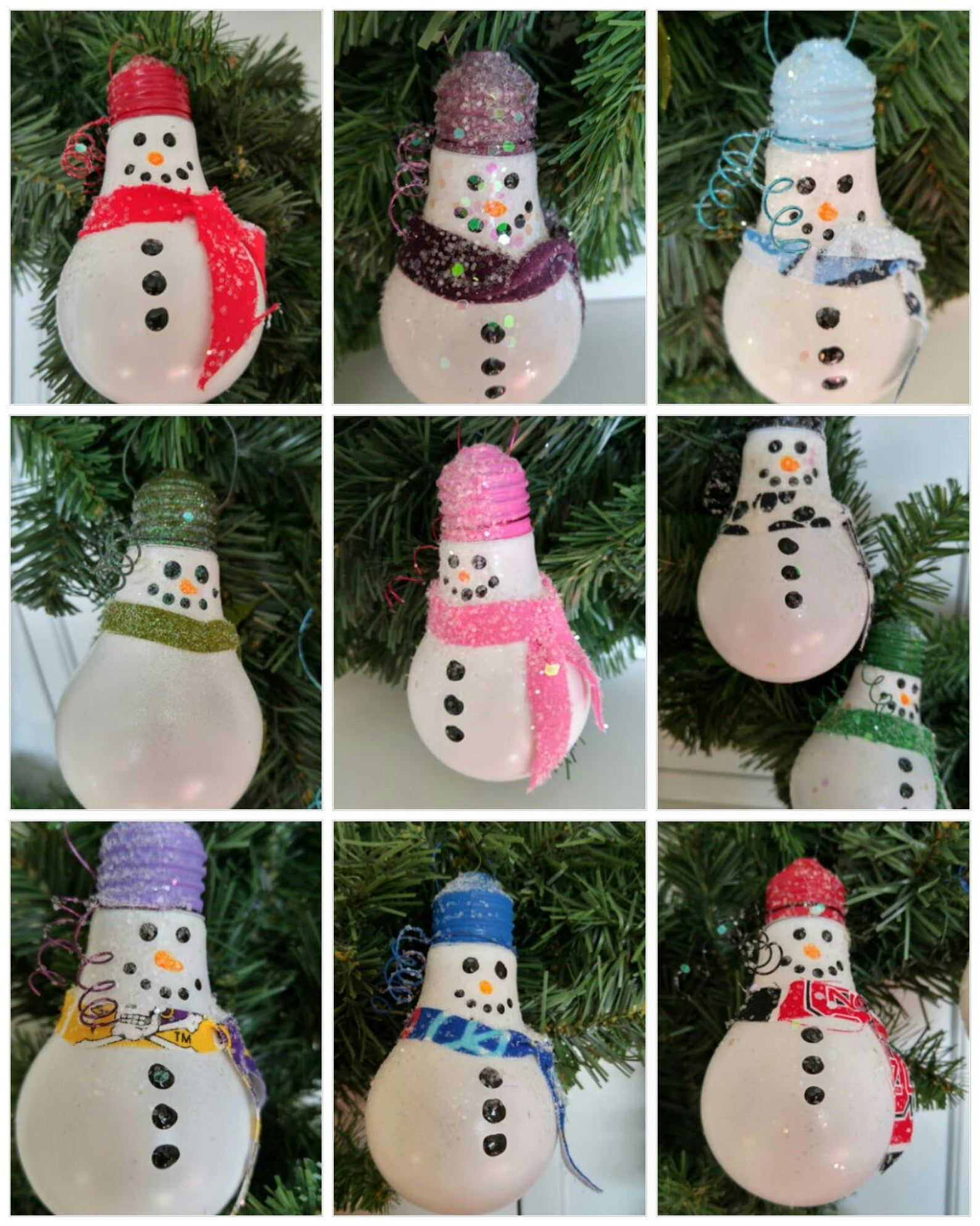 Snowman Ornament Christmas Ornament Co Worker Gift Ornament Etsy Handmade Christmas Decorations Christmas Ornament Crafts Light Bulb Ornaments
