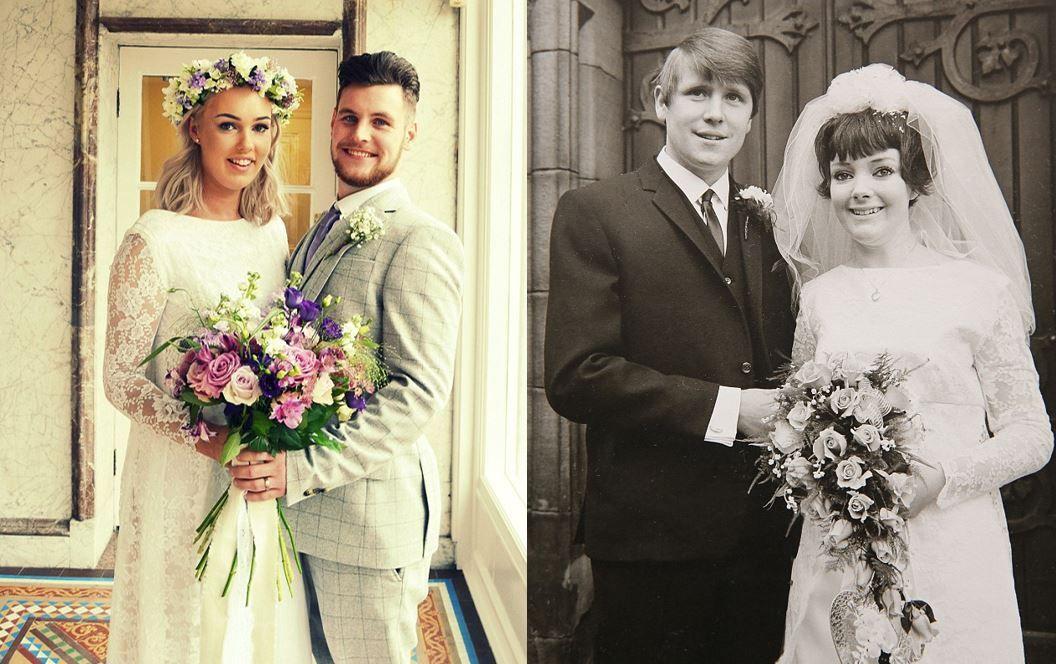 Bride chooses to wear grandma\'s £50 wedding dress over £1,000 ...