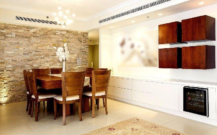 pared preciosa decorada con adornos de madera - Decorar Paredes Con Madera