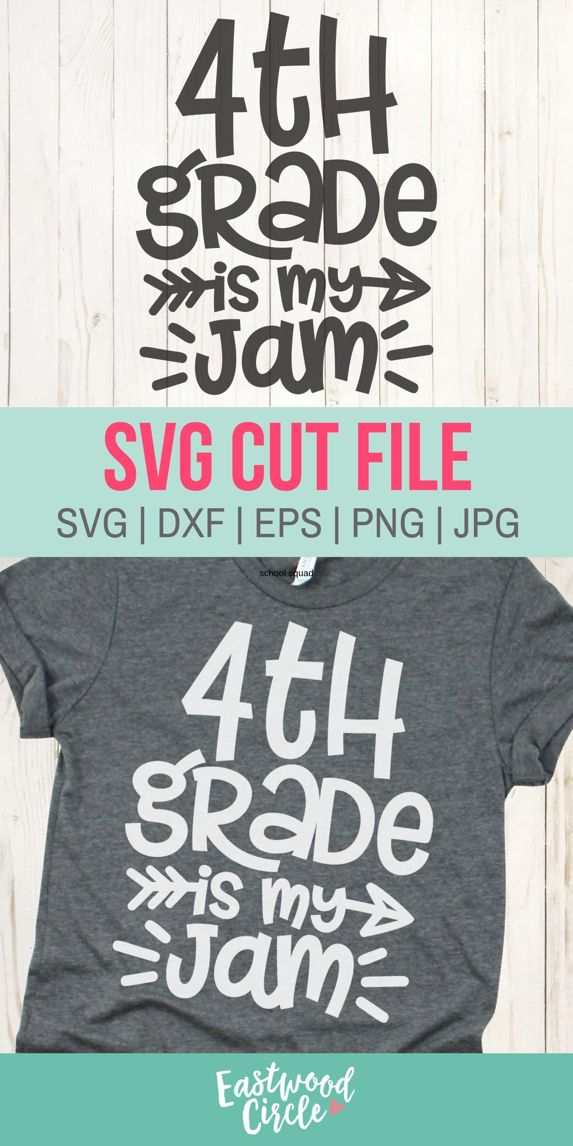 4th Grade Is My Jam Svg Fourth Grade Is My Jam Svg 4th Grade Etsy Svg Paper Clip Art Cricut