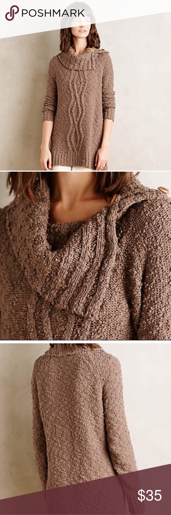 MAKE OFFER NWT Anthropologie Moth Taupe Sweater S NWT | Moth, Cowl ...