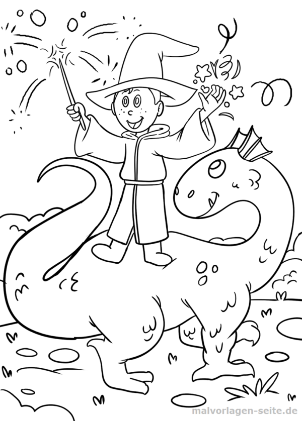 Malvorlage / Ausmalbild Zauberer - Coloring pages for Kids with ...