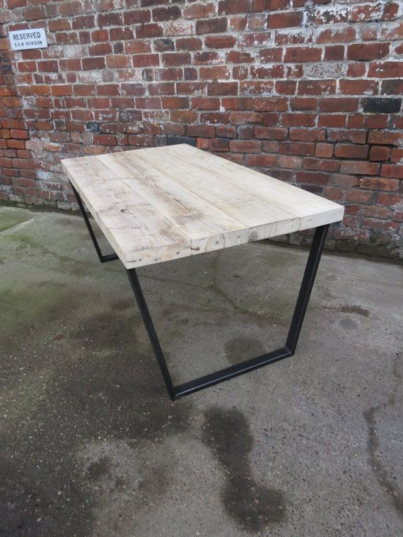 Reclaimed Industrial Chic Trapezium Desk Dining Table Bar Cafe