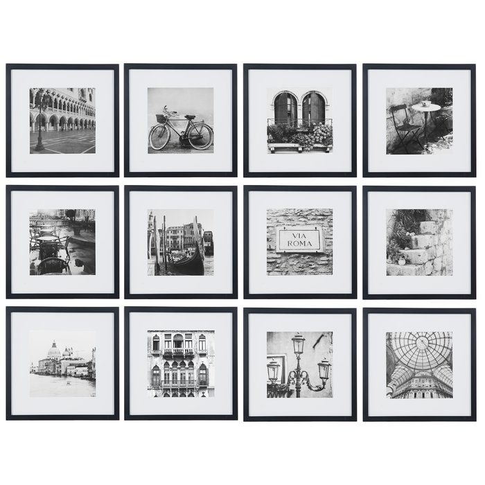 12 Piece Noland Matted Picture Frame Set Picture Frame Sets Picture Frames Collage Picture Frames