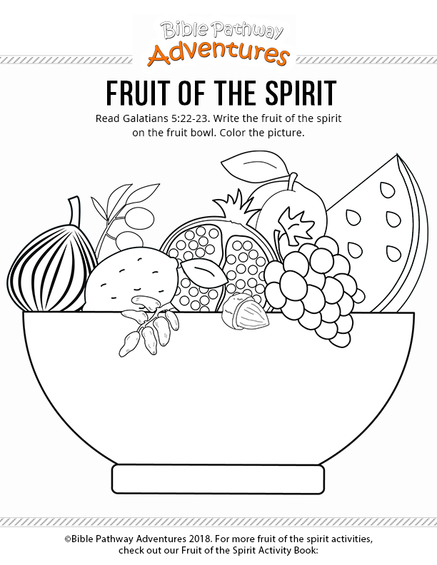 Fruit Of The Spirit Fruit Of The Spirit, Printable Bible Activities,  Bible Coloring Pages