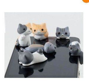 Amazon.com: 10pcs Cheese Cat 3.5mm Anti Dust Earphone Jack Plug Stopper Cap for Iphone HTC: Cell Phones & Accessories