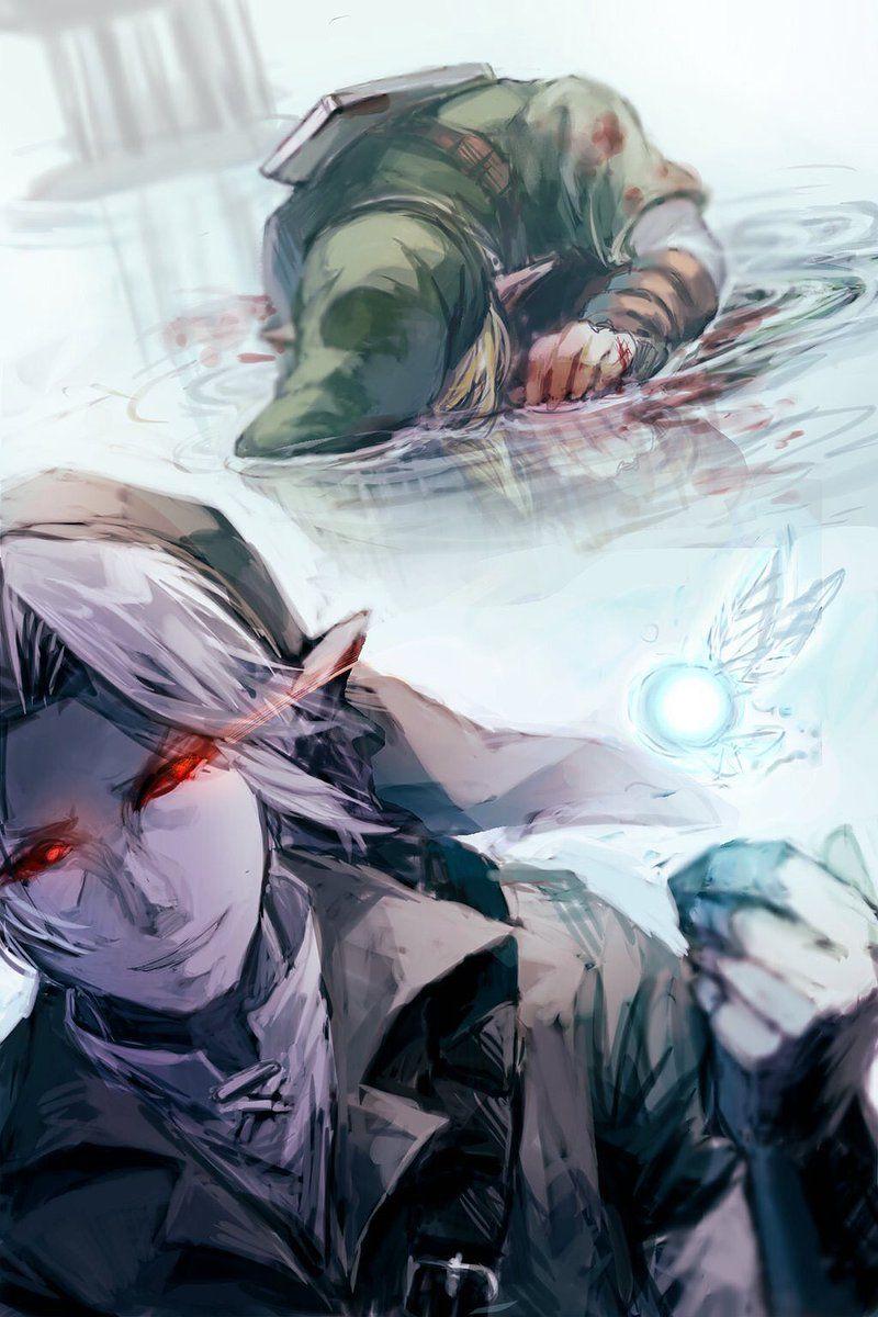 link vs dark link art by ����� �gmn10dzldffdq all
