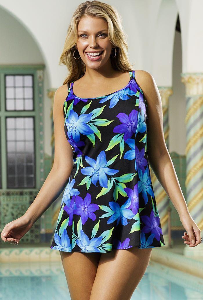 ff417f4eebb Longitude Flamenco Princess Seam Swimdress   Clothes for Gina ...