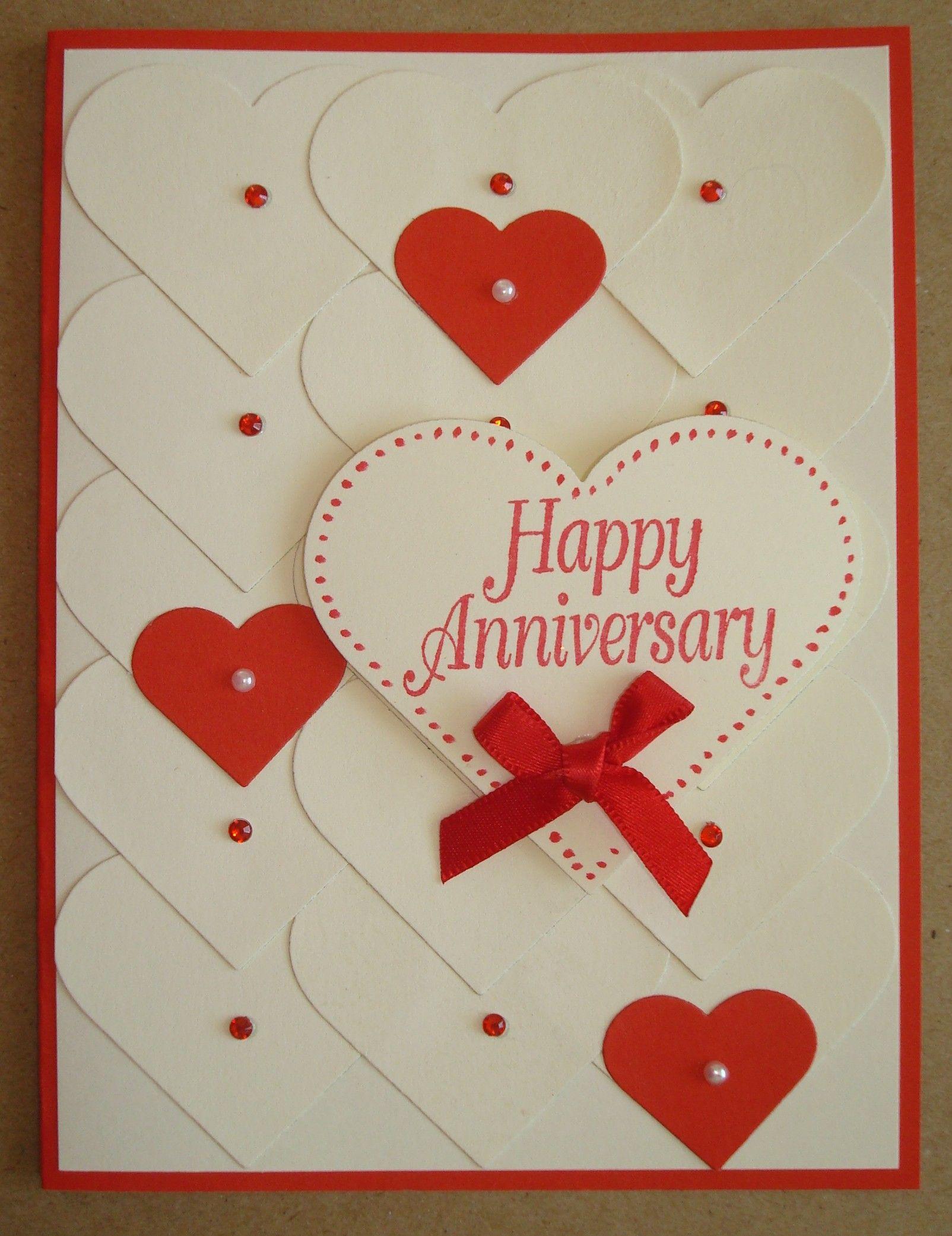 Hand Made Anniversary Card Anniversary Cards Anniversary Cards Handmade Card Making