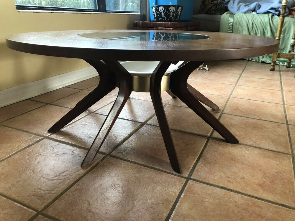 Broyhill Brasilia Vintage Coffee Table Mcm Modernist W Ceramic