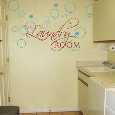 The Laundry Room Lettering And Bubbles Wall Decals Sorting Out - Wall decals laundry room