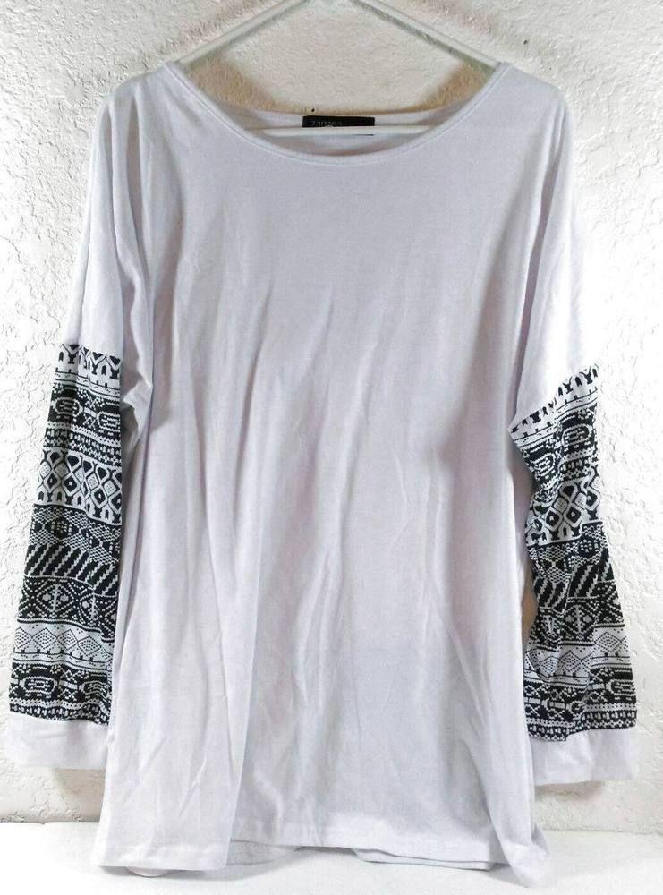 48129a9f12937 Zanzea Plus Size XXXL White Stretchy Blouse Patterned Sleeves Cotton B261   Zanzea  Blouse  Casual