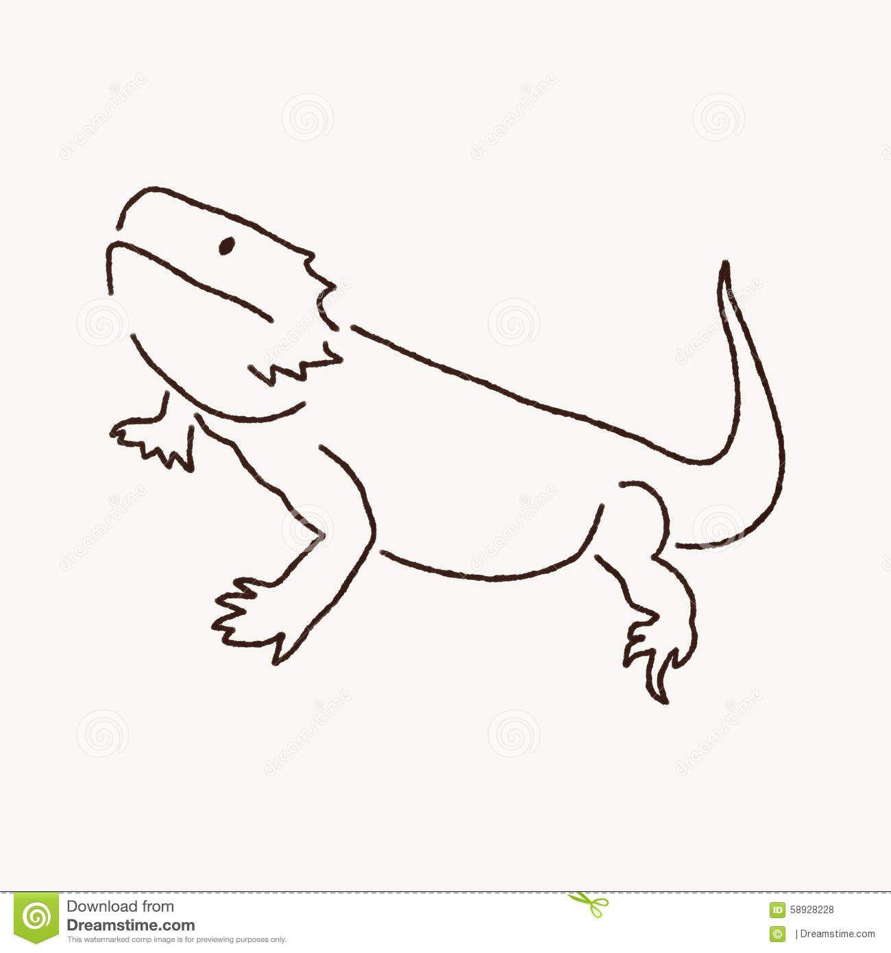 Bearded Dragon Clipart Lizards In 2019 Dragon Tattoo Simple