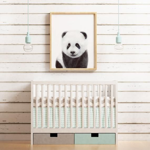 WATERCOLOR panda bear, Baby panda Nursery wall art, PRINTABLE, Nursery decor, Cute panda bear painting, jungle animals, Baby animal prints #babypandabears