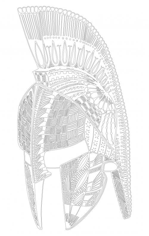 spartan helmet coloring page