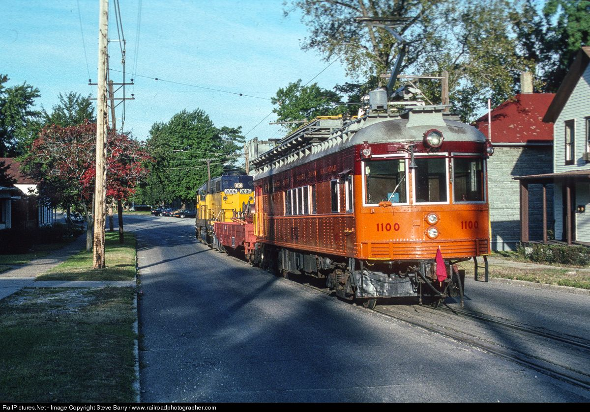 Css 1100 Chicago Southshore South Bend Railroad Line Car At Michigan City Indiana By Steve Barry Www Railroadphotograph Michigan City Michigan Street Cars