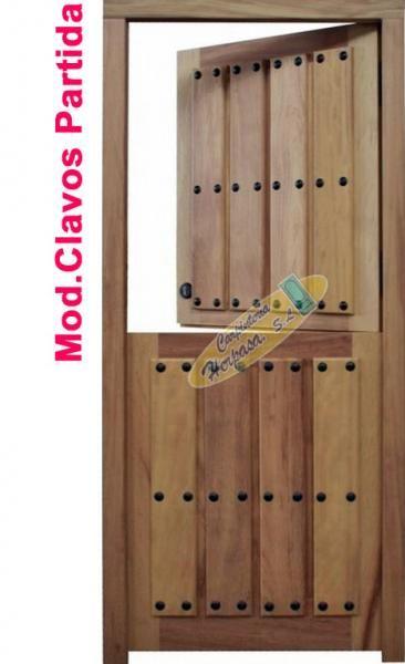 Mod H-122 Puerta clavos partida Decoración Pinterest Puertas - puertas de madera para bao