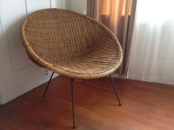 Mid Century Rattan Hoop Chair Chairs Rattan And Etsy