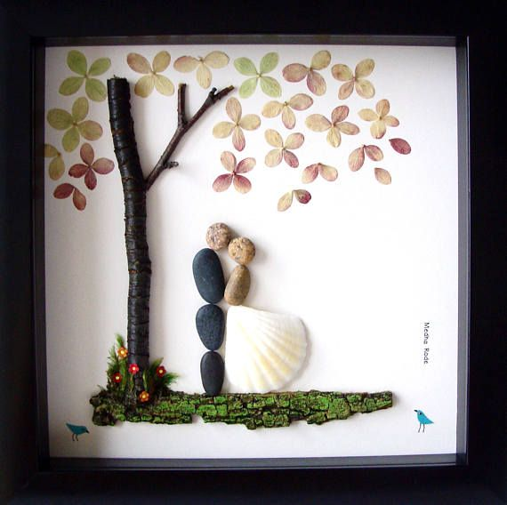 Best Wedding Gift For Groom: Best Wedding Gift- Pebble Art- Bride And Groom Gift