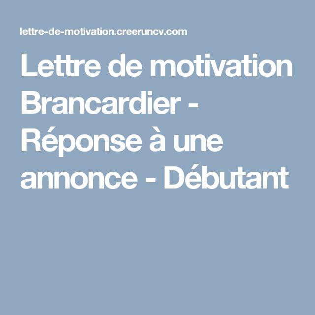 Lettre De Motivation Brancardier Reponse A Une Annonce Debutant Lettre De Motivation Exemple De Lettre De Motivation Lettre A