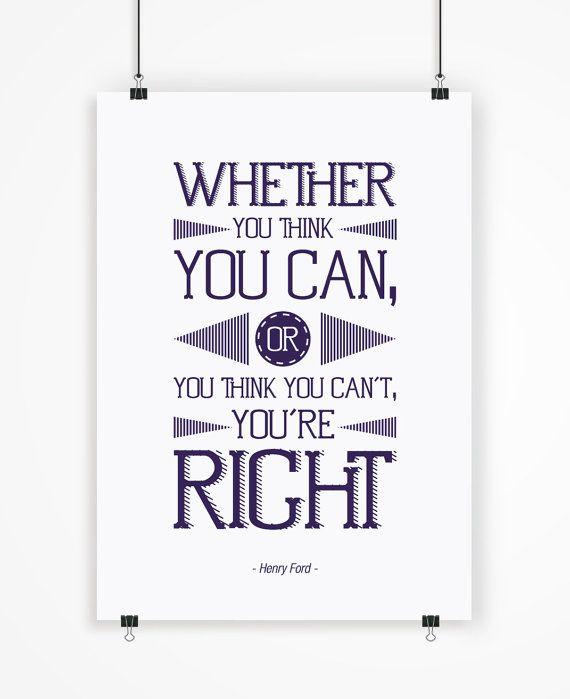Henry Ford poster motivador tipografía impresa por LetteringShop