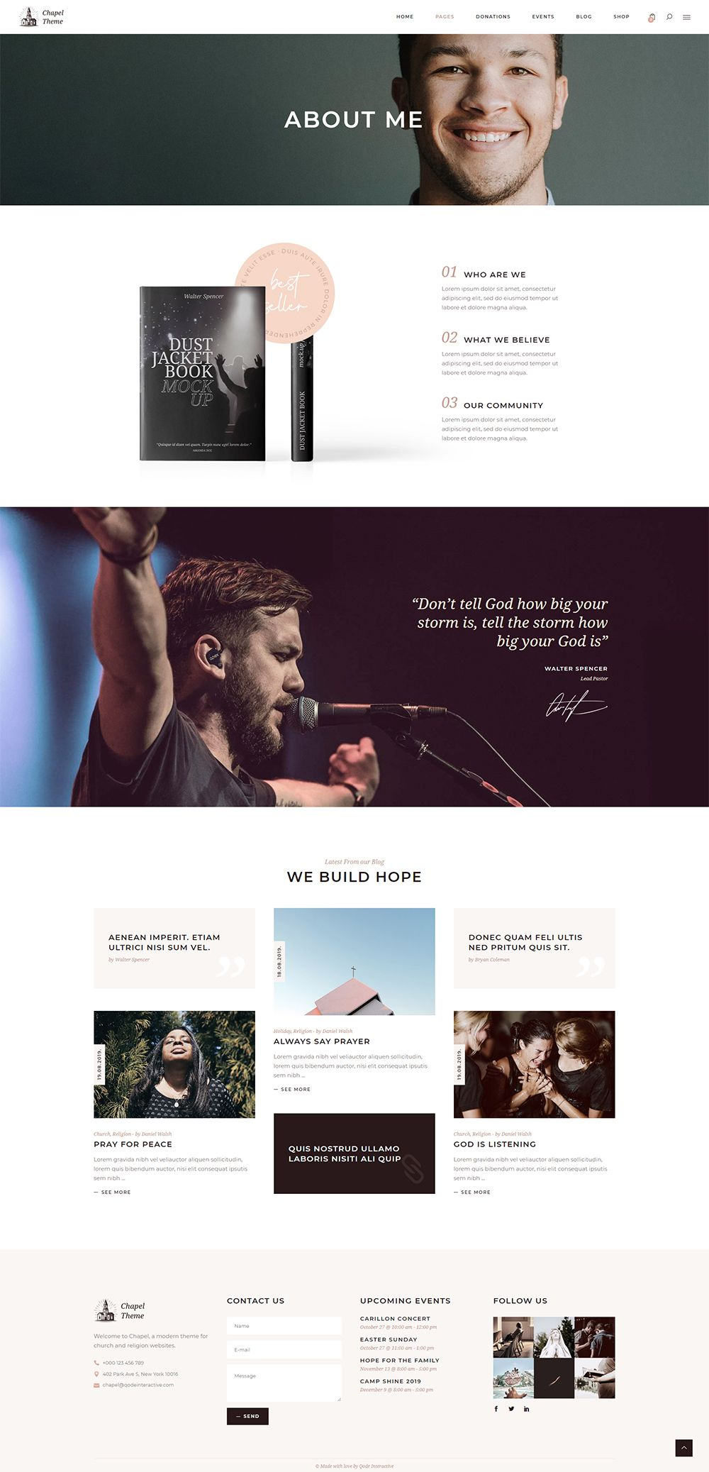 About Me Church Website Design Nonprofit Website Design Church Websites
