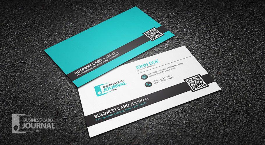 Free Cool Sleek QR Code Business Card Template More At - Business card with qr code template
