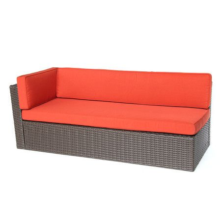 3-Piece Sarah Patio Sectional Set in Red Orange