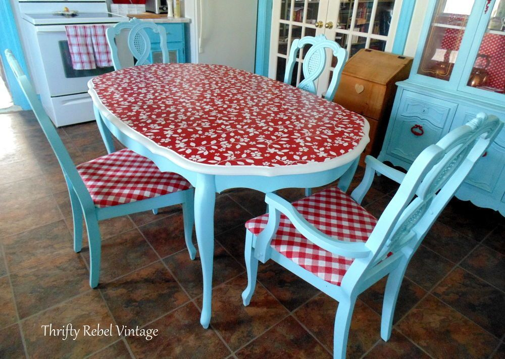 #kitchen Kitchen Table Makeover DIY Tabletop Idea in 2020 ...