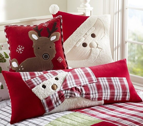 christmas decorative pillows pottery barn kids - Christmas Decorative Pillows