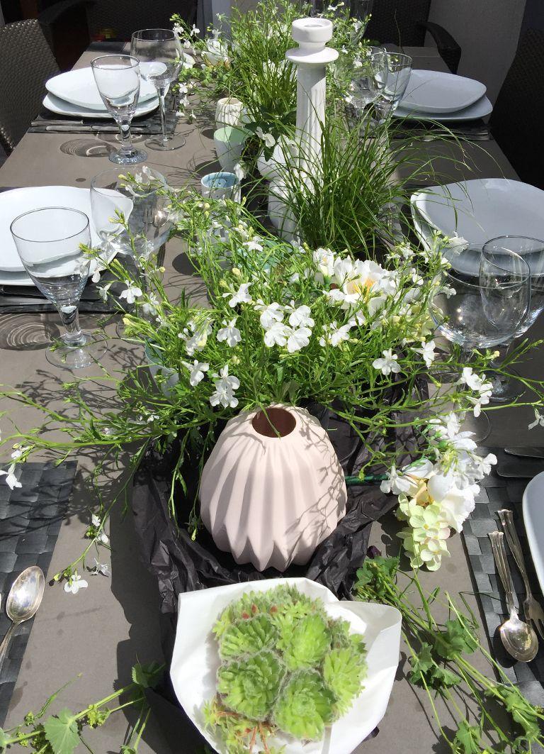 Deko Tisch Pflanzen Holztisch Wohnzimmer
