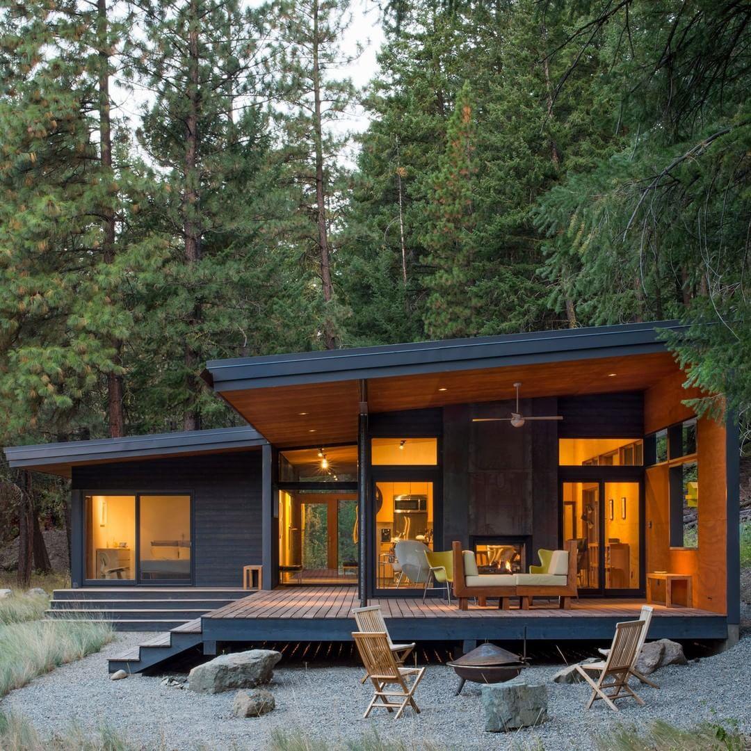 Modern Cabin, House Exterior, Modern