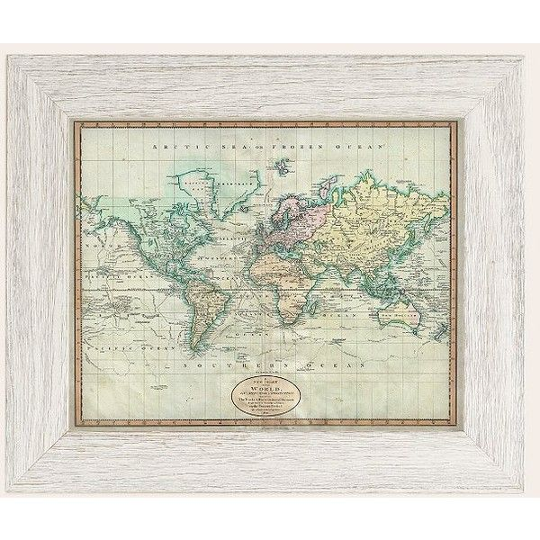 Adam shaw vintage world map 1801 art print 170 cad liked on adam shaw vintage world map 1801 art print 170 cad liked gumiabroncs Gallery