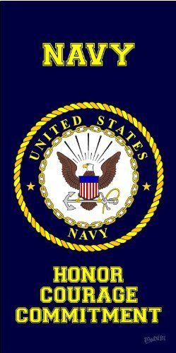 Navy United States Armed Forces Military Navy Beach Towel