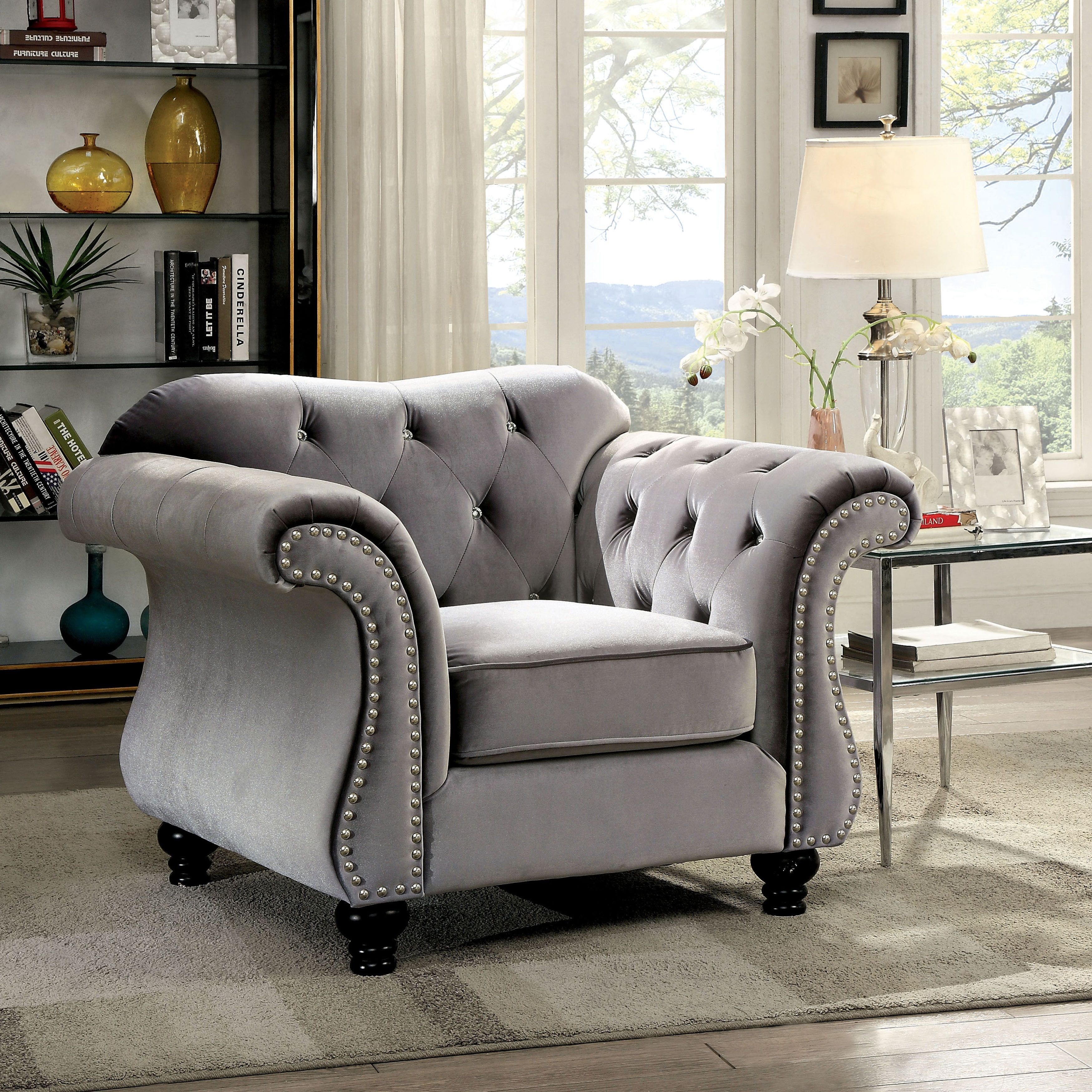 overstock product garden free floral today loveseat plum christopher fabric by shipping dejon knight home