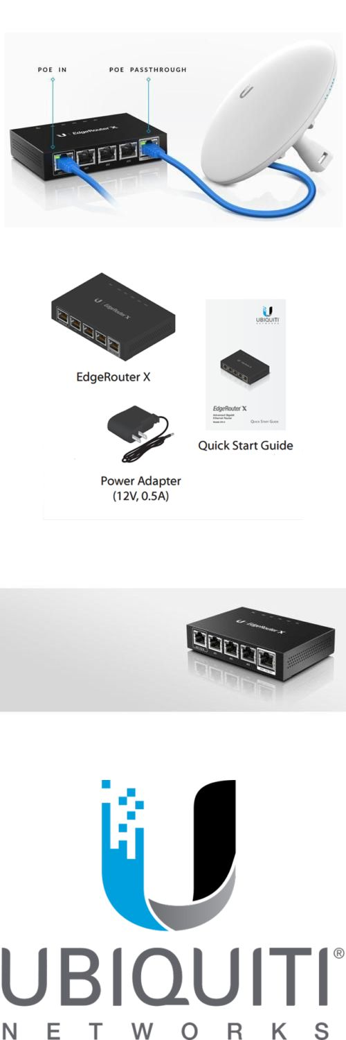 Details About Ubiquiti Er X Us Edgerouter X 5 Port Advanced Gigabit Ethernet Routers 256mb St Wired Router Router Ebay