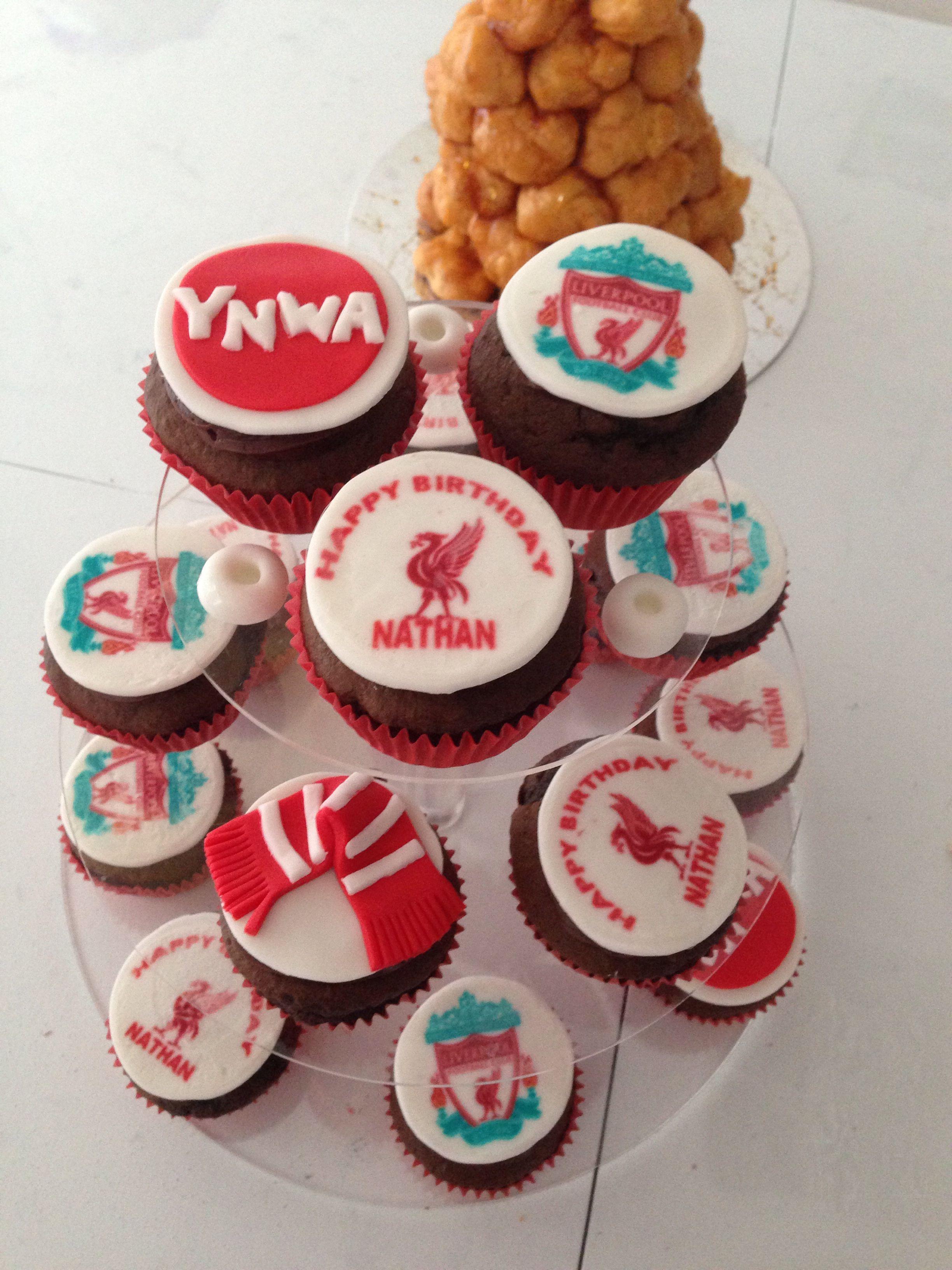 Liverpool Cupcakes Cake Printing Football Cupcakes Liverpool Logo