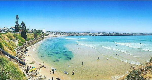 Cowell Beach In Santa Cruz