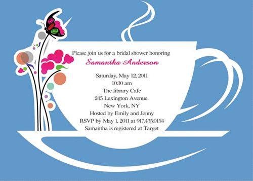 Tea Party Bridal Shower Invitations Read More Www Elegantweddinginvites Special Wednesdaybridal Invitation Wording Samples