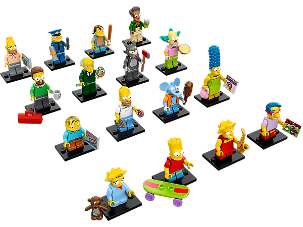 """LEGO® Minifiguren - 16 Charaktere mit Zubehör -  der Serie """"The Simpsons™"""" in Überraschungstüten! Zum Sammlen und Tauschen."""