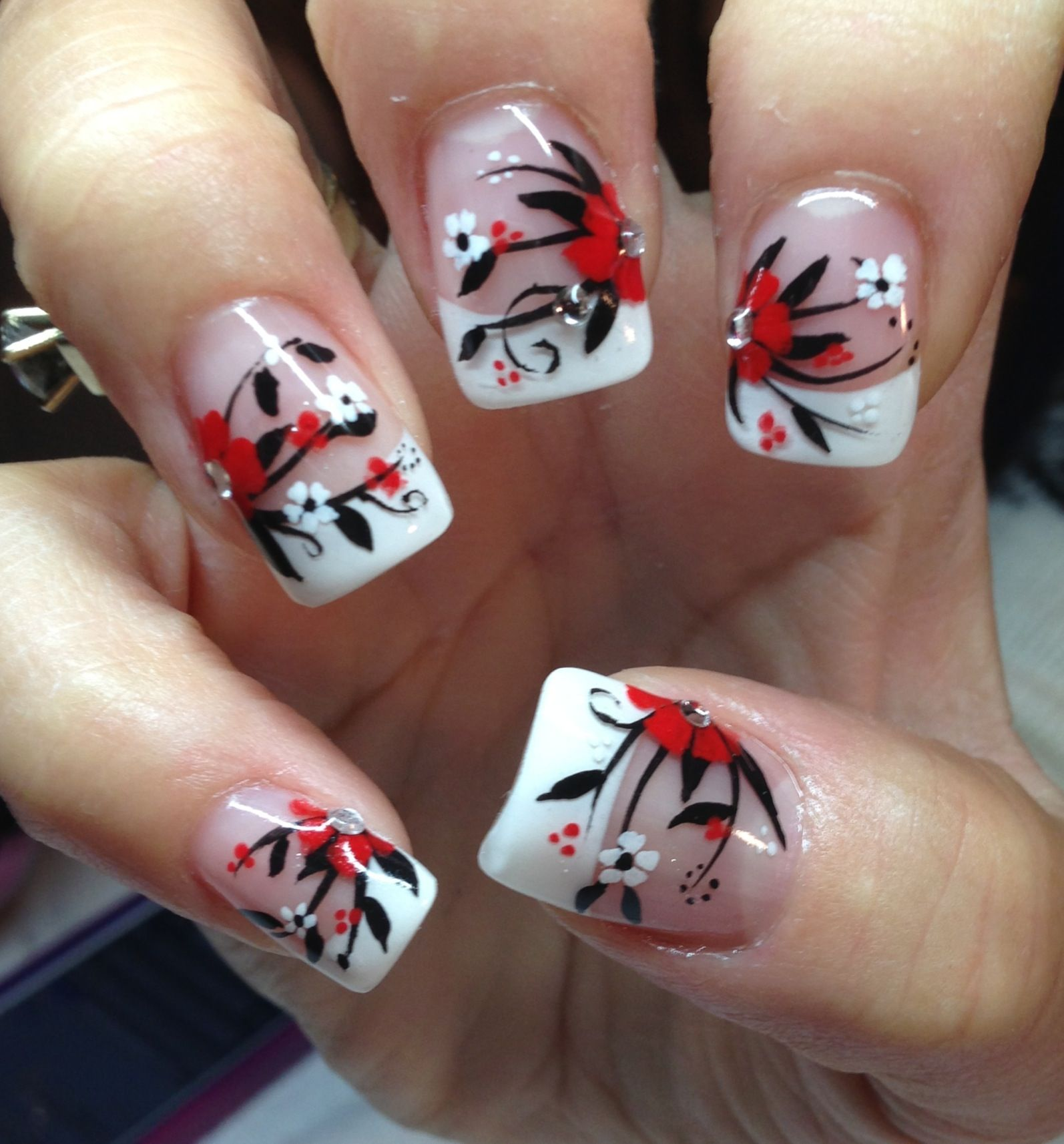 Robin moses inspired. By strawberry swirl | nails & more nails ...