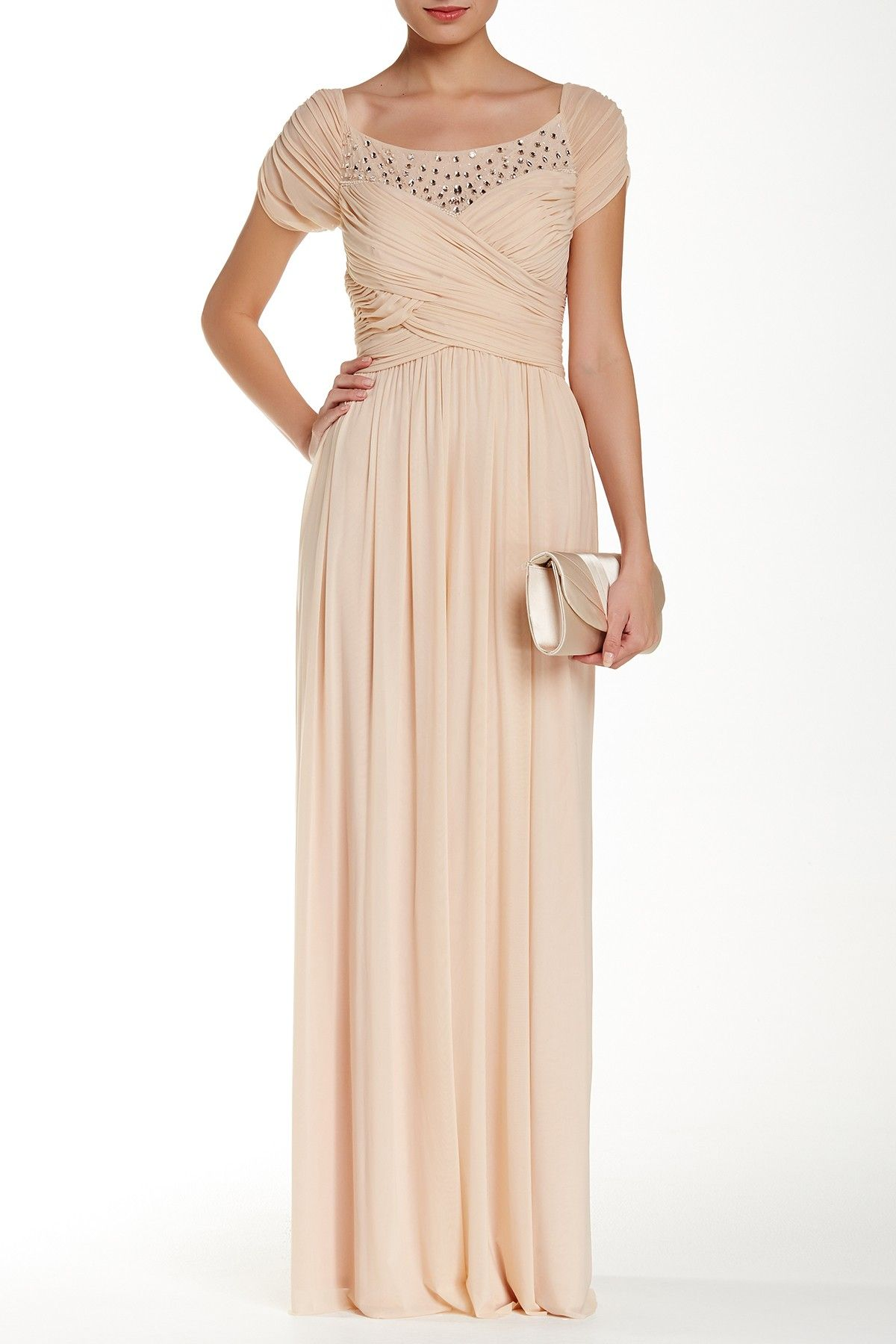 Short Sleeve Beaded Mesh Gown   My style - haves, want and wish list ...