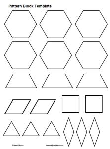 Pattern Block Plates Math Art Grade 2 With Images Math Art