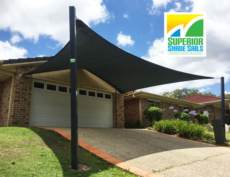 how to install a shade sail to house
